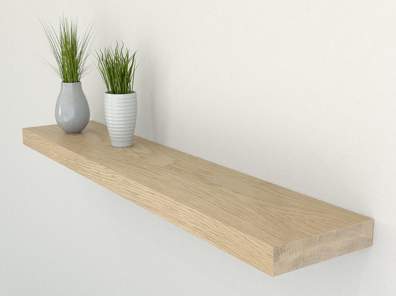 plasterboard and drywall solid oak floating shelf 150mm. Black Bedroom Furniture Sets. Home Design Ideas