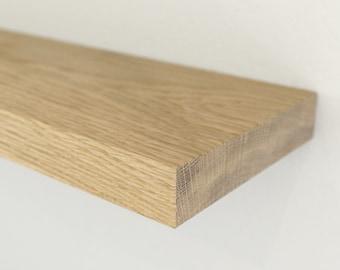 44mm Solid Oak Sample | Floating Shelf Sample | BespOak Interiors
