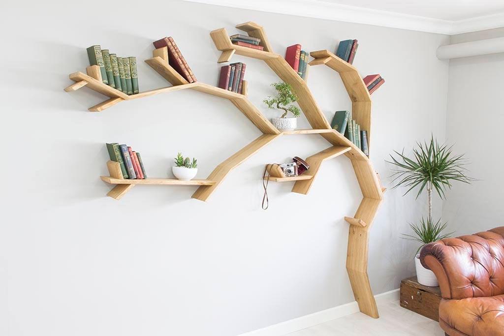 The Windswept Oak Tree Bookshelf | Etsy
