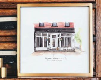 Single NYC Storefront Illustration Print