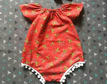 Baby Romper PDF Sewing Pattern Short sleeves or Sleeveless and with VIDEO TUTORIAL , sizes pm - 3 years , girl dress pdf pattern