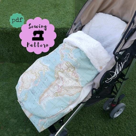 Patrón PDF Saco universal para silla paseo bebé patrón de | Etsy