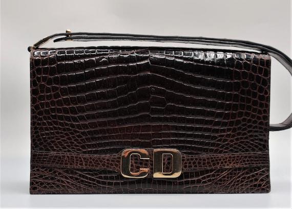Dior Croc Leather Bag
