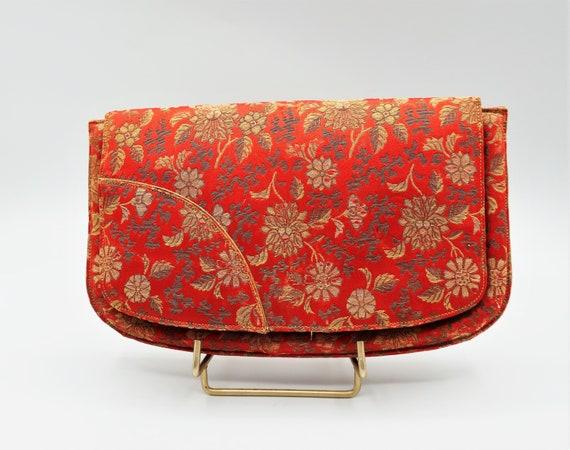 Vintage Silk 1930s Clutch Bag