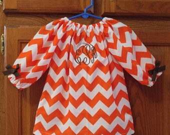 Monogrammed Peasant Dress for Baby/Toddler/Girl, Back to School, Thanksgiving Dress, Fall Dress, Winter Dress