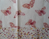 2 Decoupage Dinner Napkins Pink Floral Butterflies Guest Towel Paper Napkins