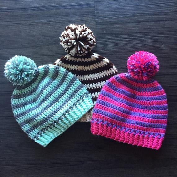 Striped pom pom winter hat 5b11a7ed8cd