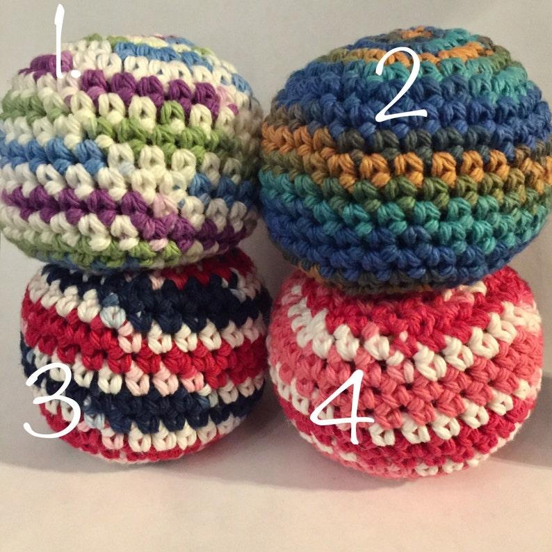 Hacky Sack Crochet Bean Bag Hacky Sack Bean Bag Toy Crochet Etsy