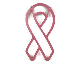 Metal Awareness Ribbon -- Survivor, Fighter, Breast Cancer, Melanoma, Bladder, Sarcoma, Bone Cancer