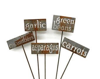Set of Classic Metal Garden Markers -- Order in sets of 3, 5, 10, 15, 20 or 25 -- Bulk Discount and FREE SHIPPING in the US!