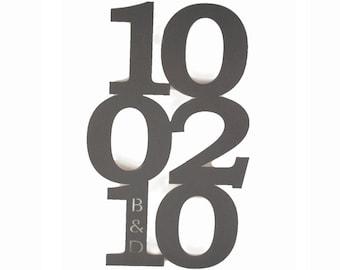 Custom Metal Anniversary Date Sign, wedding date, anniversary day, gotcha day, adoption date, birth date sign, anniversary gift, wedding day