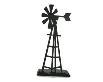 """Metal Windmill Stand 15"""" tall Powder Coated"""
