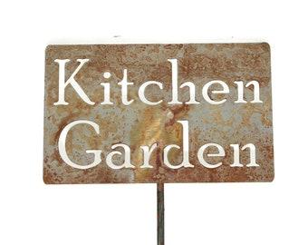 Kitchen Garden Metal Garden Stake Sign, Small to XL