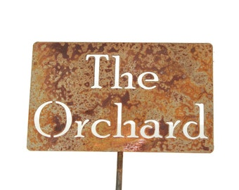The Orchard Metal Garden Stake Sign, Small to XL
