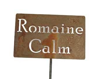 Romaine Calm Metal Garden Stake Sign, Small to XL