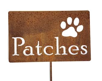 Metal Pet Memorial Sign, memorial garden stake, memorial sign, pet memorial, pet grave marker, loss of pet, loss of dog, loss of cat