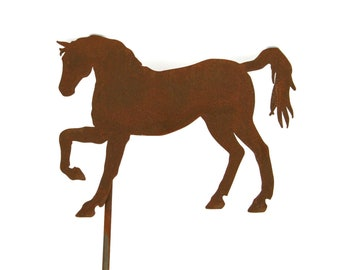 Metal Horse Stake, Rusty Horse Yard Art, horse yard sign, outdoor horse, rustic horse sign, horse stake, horse collector, metal horse sign