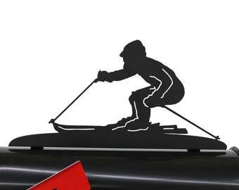 Skiing Metal Mailbox Topper, Metal Skier Mailbox Top, Snow Ski Mailbox Top, Ski Lodge, Winter vacation home, winter sports mailbox