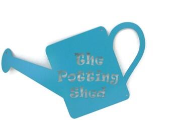 Metal Potting Shed Sign, She Shed Sign, Garden Potting Planting Storage Workshop Greenhouse Sign