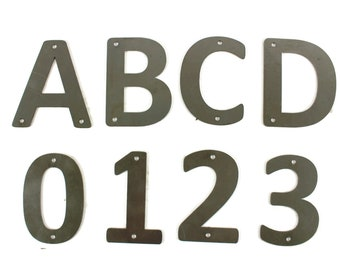 Metal Steel Rounded Font Letters and Numbers A through Z and 0 through 9 -- 4 Inches Tall