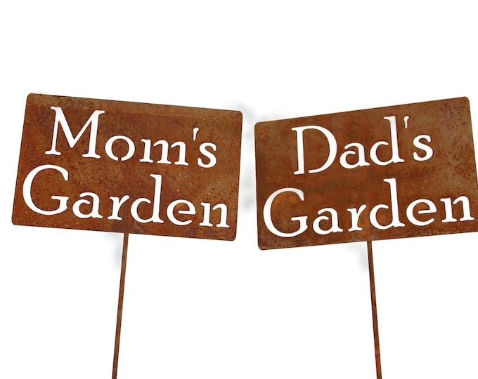 Featured listing image: Dad's Garden Stake, Mom's Garden, Papa's Garden, Grandpa's Garden garden marker, Gardener Gift, Father's day, Mother's day