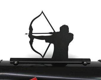 Archery Metal Mailbox Topper, Metal Archer Mailbox Top, Bow and Arrow Mailbox Top, arrow, pointing, shooting, arrows, competitive archery
