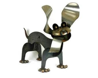 Metal Dachshund, Wiener Dog Statue, dog garden art, dog statue, metal wiener dog, 3d dog statue, wiener dog yard art, dog for landscape