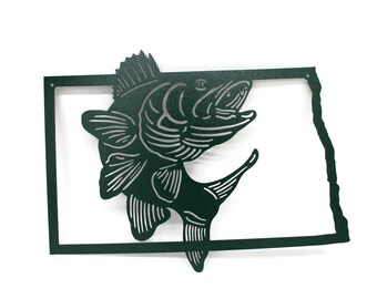 North Dakota Walleye Fishing Sign, Ice Fishing North Dakota, Fisherman Sign