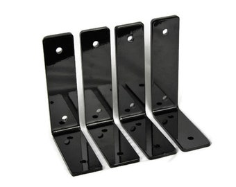 Heavy Duty Powder Coated Shelf Brackets -- Black, Beige, Blue, Brown, Green, Pink, Red, Silver, Teal, White