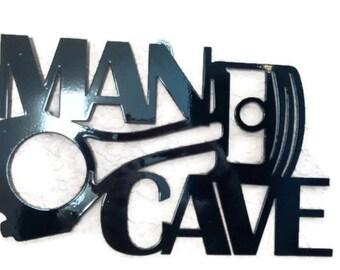 Man Cave Piston Sign, Metal Man Cave Sign, Metal Car Sign
