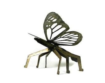 Giant 3D Metal Butterfly, butterfly yard art, Industrial Garden Art, Re-purposed Metal Art, outdoor butterfly art, oversized butterfly