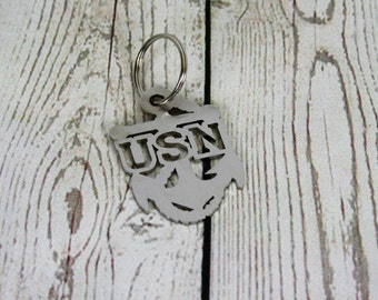 US NAVY Key Chain, Navy Chief Anchor, Anchor Key Chain, Chief Petty Officer gift, CPO key chain, Navy key ring, Navy anchor gift, Chief gift