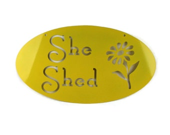 Metal She Shed Sign, She-Shed, Garden Potting Planting Storage Workshop Greenhouse Sign