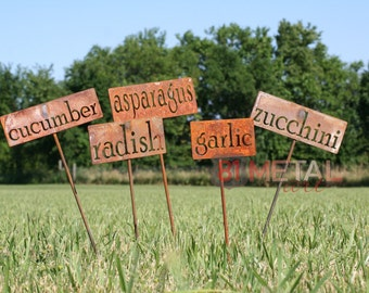Classic Metal Garden Markers Set of 3, 5, 10, 15, 20 or 25 -- Bulk Discount and FREE SHIPPING!