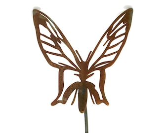 Rusty Butterfly Steel Garden Stake 22 Inches Tall