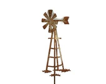 Outdoor Windmill Garden Stake, Windmill Yard Sign, Farmhouse Windmill, Garden Marker, windmill stake, metal windmill, windmill farmhouse