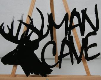 Deer Man Cave metal sign, deer hunter sign, outdoorsman sign, hunter man cave, gift for him, deer sign, buck deer sign, Man Cave wall decor