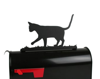 Cat Mailbox Topper, Metal Kitty Mailbox Topper, Kitten Mailbox, Cat Lady Mailbox Topper, Cat lady sign, Cat gift idea, Cat lover sign