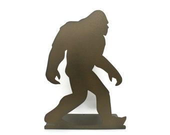 "Sasquatch Bigfoot Standing Metal Sign 15"" Tall Powder Coated"