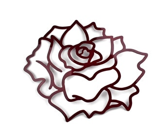 Rose Wall Art, Flower Wall Decor, Lightweight Wall Art, tropical rose, metal wall flowers, gardenia wall art, lotus flower, metallic flowers
