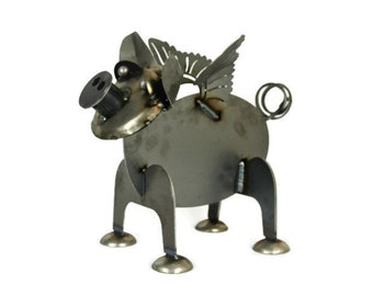 Metal Flying Pig Statue, Pig Farmhouse Decor, Outdoor Pig Statue, When pigs fly, Metal Pig, pig decor, if pigs could fly, piggy, pig farmer