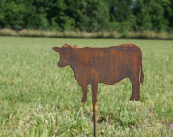 Metal Cow Stake, Cow Yard Sign, Dairy yard sign, Dairy decor, Dairy Cow Decor, garden marker, cattle yard sign, cow stake
