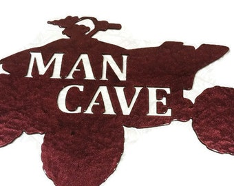 ATV Man Cave Metal Sign