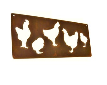 Rustic Metal Chicken Coop Sign, Chicken House Sign, Urban Chicken Stall, chicken sign, chicken decor, farmhouse chicken, farmhouse wall art