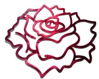 Rose Wall Art, Flower Wall Decor, Lightweight Wall Art, tropical rose, metal wall flowers, gardenia wall art, lotus flower, metallic flowers