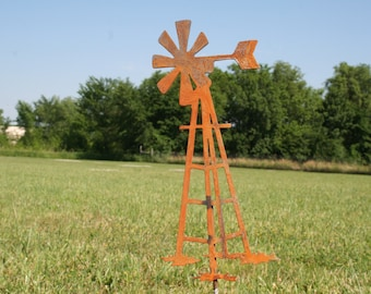 Outdoor Windmill Garden Stake, Windmill Yard Sign, Farmhouse Windmill, Garden Marker, windmill stake, metal windmill, windmill farmhouse