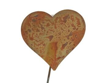 Metal Heart Garden Stake, Valentine heart, heart yard sign, rustic heart yard art, rusty hearts, heart of steel, be mine
