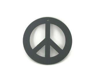 """Metal Peace Sign Ornament 3"""" wide"""