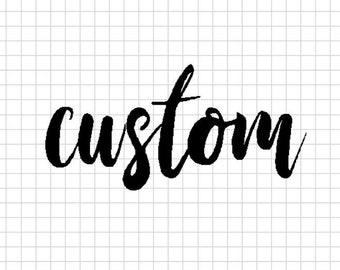 Custom script word art, choose any word, personalized word art, steel script cursive font, DIY word sign