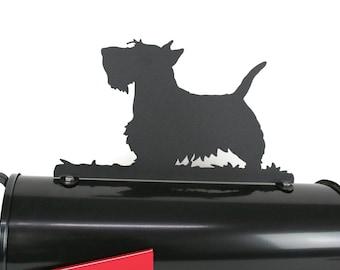 Scottie Scotty Dog Companion Metal Steel Powder Coated Mailbox Topper